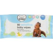 Clicks Sensitive Baby Wipes 80 Wipes