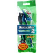 Super-Max Comfort Grip Twin Blade Disposable Razors for Men 10 Pack