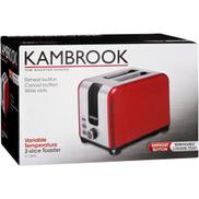 Kambrook 2-Slice Toaster Red