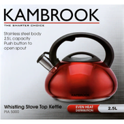 Kambrook Stove Top Kettle 2.5 Litres