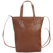old khaki Kristy Structured Leather Shopper