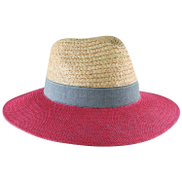 Rare Earth Ladies Vivienne Raffia and Canvas Fedora