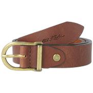 old khaki Kynlee Metal Loop Basic Leather Belt