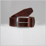 old khaki Bowen Double Stitch Leather Belt