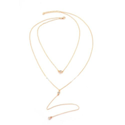 ZA Multilayer Cleavage Chain Pendant Necklaces
