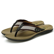 Fashion Mens Comfort Sandals Flip Flop With Arch Support-black
