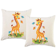 PepperST PepperSt - Scatter Cushion Cover Set Baby Giraffe with Butterflies