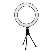Generic 8 Inch LED Ring Light Dimmable 3 Colors With Bluetooth USB Plug Cellphone Selfie Tripod Bracket For Youtube Video Live Photo