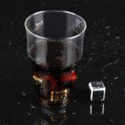 Generic 4 Pcs Reusable Non-Toxic Safe Stainless Steel Wine Ice Cooling Cubes No Melt