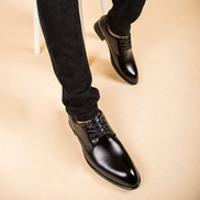 Tauntte Point Toe Men Formal Shoes Fashion Bussiness Casual Shoes Black