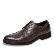 Tauntte British Style Men Formal Office Shoes Fashion Casual Leather Shoes Brown