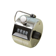 Generic 4 Digit Metal Counter Hand Counters Manual Clicker With Finger Ring Hoop