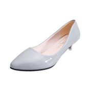 Tauntte 3cm Low Heel Pointed Toe Pumps Women Casual Shoes Gray