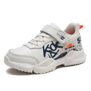 Fashion Boy children's shoes leather sneakers-White