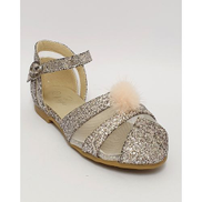 Anjo Couture Pom-Pom Mesh Shoes Pink