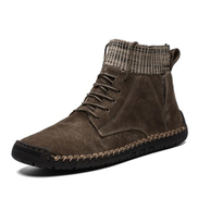 Fashion Big Size Mens Ankle Boots Chelsea Boots-Brown