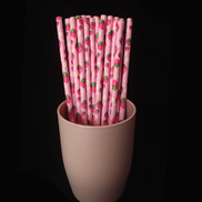 Generic 25pcs Lot Paper Straws Disposable Drinking Straw Birthday Party Lovely Pattern