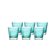 Leonardo Drinking Glass Tumbler Lagoon Blue VARIO Set of 6