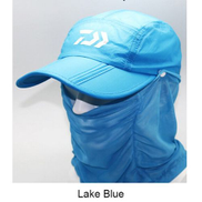 Generic Men Summer Removable Fishing Hat Collapsible Breathable Fishing Cap With Face Neck Cover Outdoor Sport Hiking Camping Visor HatBlue