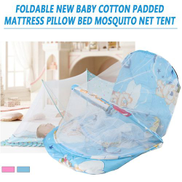Generic Foldable New Baby Cotton Padded Mattress Pillow Bed Mosquito Net Tent