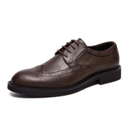 Tauntte Big Size Men's Oxfords Shoes Brogue Formal Shoes Male Casual Business Footwear Brown