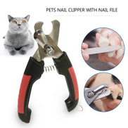 Generic Professional Pet Dog Nail Clipper with Lock and Nail File Grooming Scissors Clippers for Animals Cats Size S