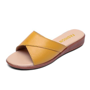 Fashion Women's Big Size Non-slip Loafers Shoes-Yellow
