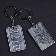 Generic 221B Apartment Keychain Pack Key Chain Creative Hand Bag Charm Pendant