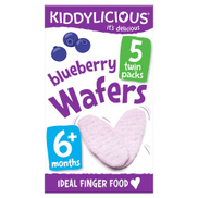 Kiddylicious Blueberry Rice Wafers, Multipack, 15 x 4g