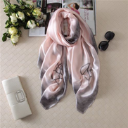 Generic Soft Light Weight Infinity Scarf With Solid Colors Jersey