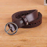Generic fashion New Women leather Girdle Buckle Belt Men Pure Color Waistband Belt