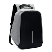 Generic TB Anti-theft Backpack with USB Charging Port Laptop Backpack Waterproof Knapsack gray