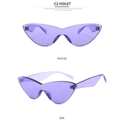 A D Fashion Style one-pieceSunglasses Women Brand Designer New Fashion cute