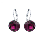 Civetta Spark Miki Drop Earrings with Swarovski Amethyst Crystal