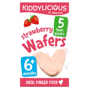 Kiddylicious Strawberry Rice Wafers, Multipack, 15 x 4g