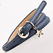 Fashion Ladies Belts Pin Buckle Wristbands Blue