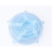 JAVING Silicone Strectch Lid Set of Various Sizes, Lt Blue