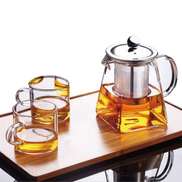 Generic Transparent Clear Borosilicate Gl Teapot With Stainless Steel Strainer